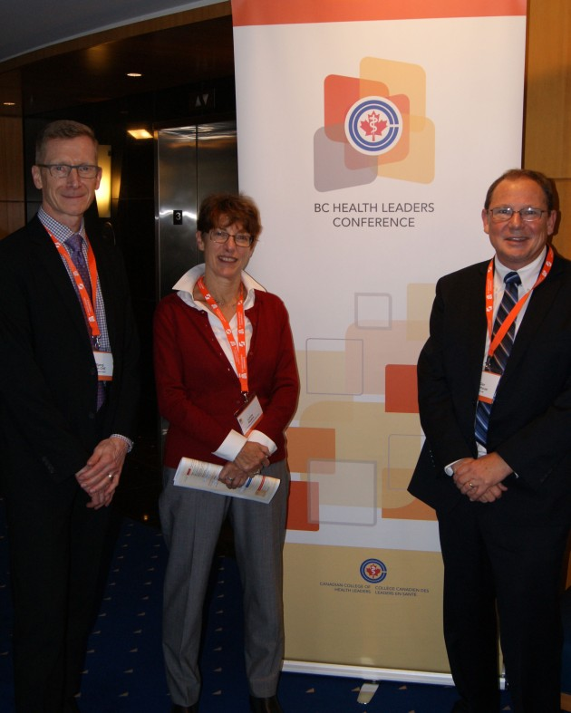 Wolf Klassen, Lynne Raskin & Glen Moorhouse present Solutions journey at BC Health Leaders Conference